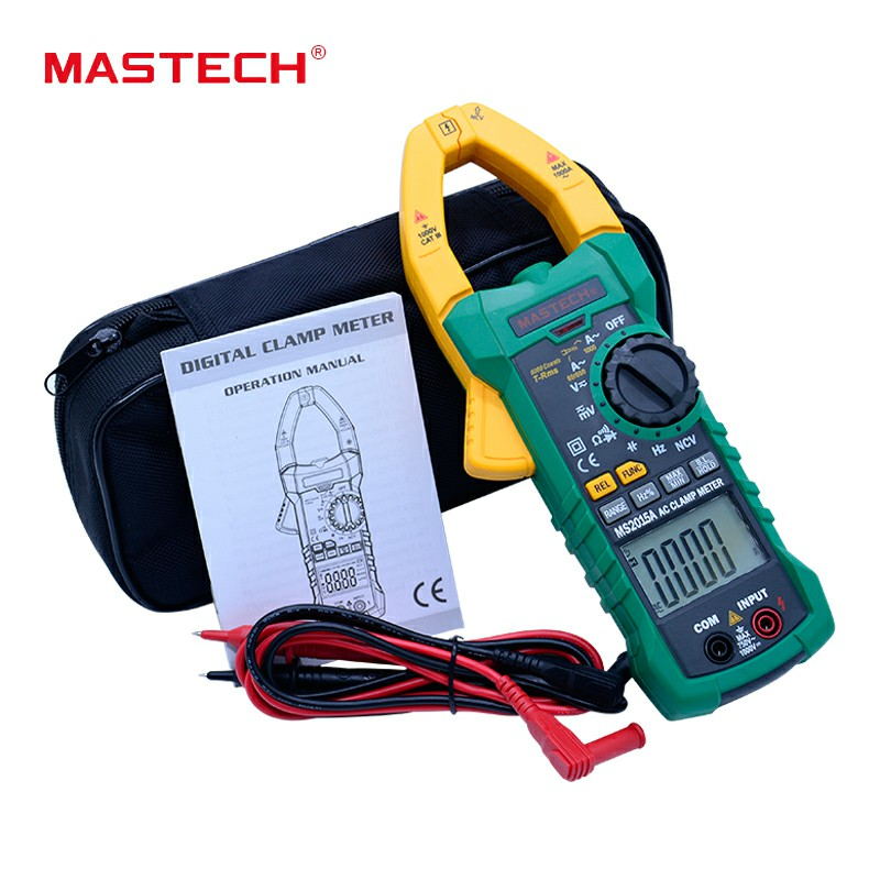 MASTECH MS2015A AutoRange Digital AC 1000A Current Clamp Meter True RMS Multimeter Frequency With Non-contact Voltage Detector цена
