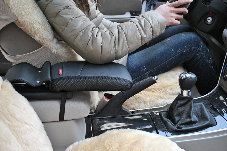 Center console armrest storage box elbow supporting Black for VW Volkswagen Tiguan Touran Passat Jetta Golf   Car decoration
