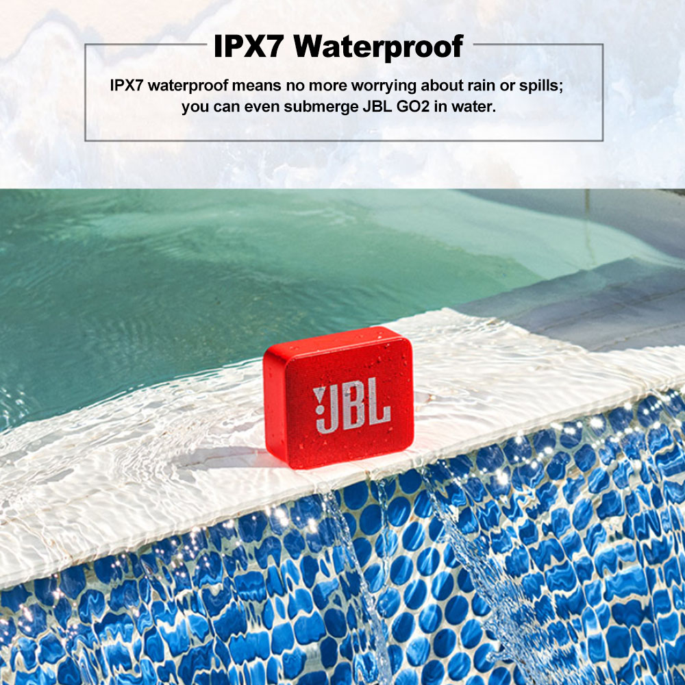 JBL GO2 Wireless Bluetooth Speaker With IPX7 Waterproof Rechargeable Battery And Mic 4