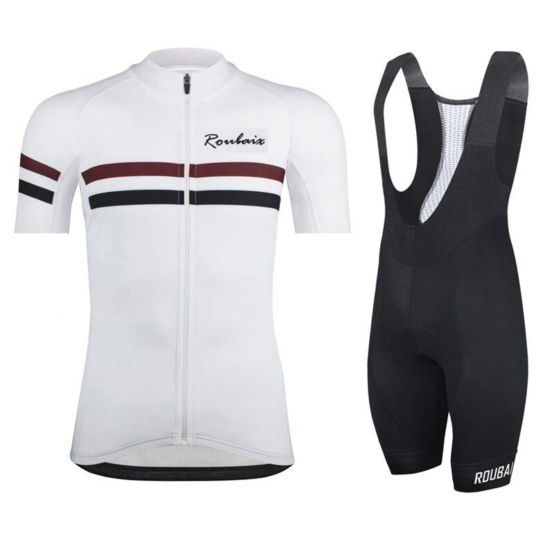 2019 Pro Team Roubaix Summer Men's Cycling Jersey Set Short Sleeve Sport MTB Bicycle Bike Road Riding Set Clothing Bib Shorts