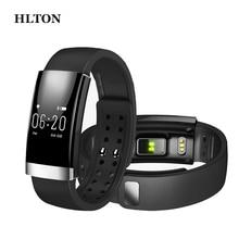 HLTON Спорт Смарт Bluetooth Группа Здоровья Калорий Heart Rate Monitor Фитнес-Трекер Браслет Удаленной Камеры Анти-потерянный Браслет