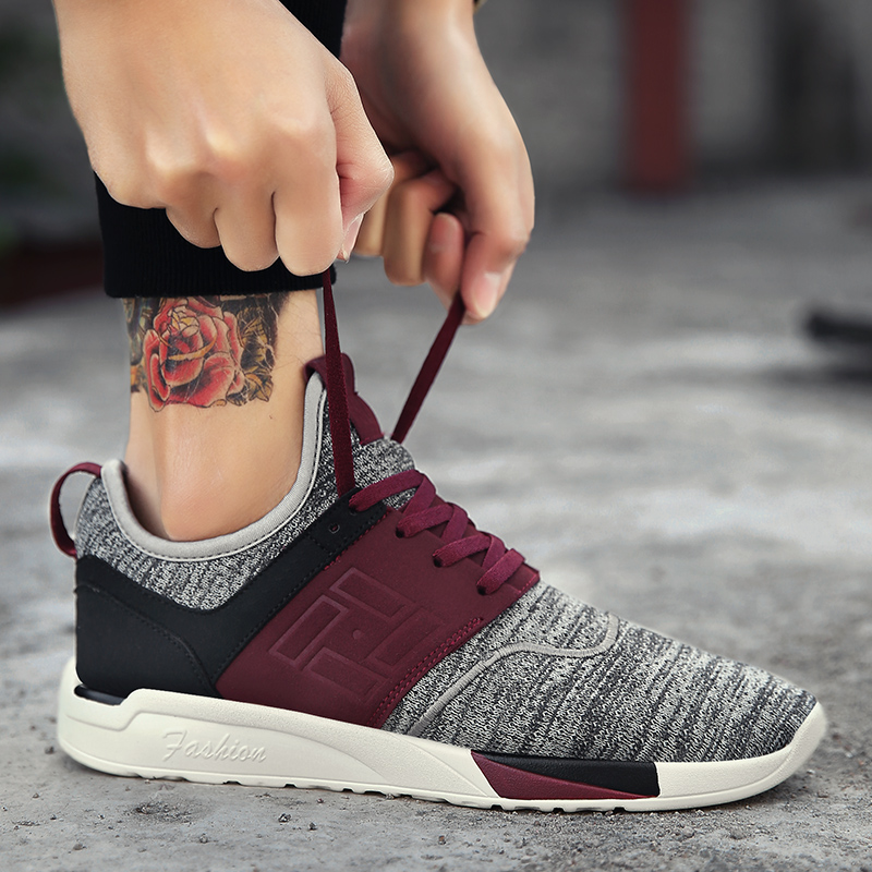 2018 Licht Gewicht Casual Schuhe Für Männer Trainer Wandern Mode Design Schuhe Marke Dünne Unteren Männlichen Turnschuhe Männer