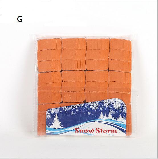 orange Snowflakes Paper SnowStorm Snow Paper Illusion Magic Tricks Props Toys Magic Paper Show Stage Props