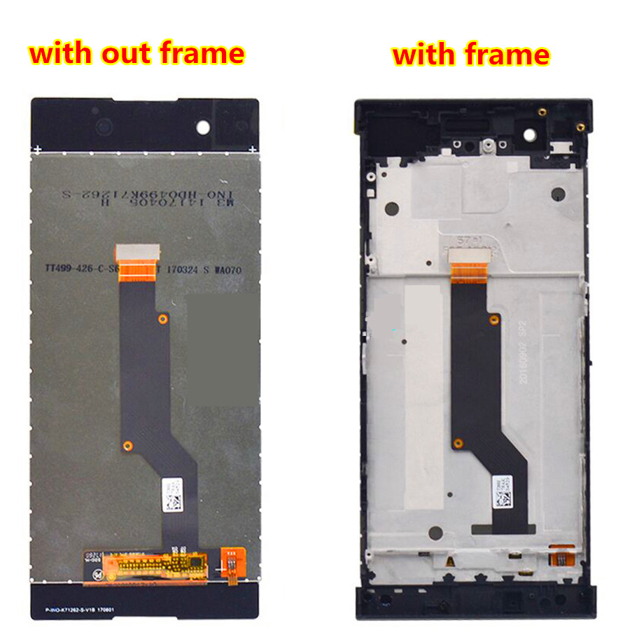 5.0'' For <font><b>Sony</b></font> Xperia XA1 <font><b>LCD</b></font> Display Touch Screen Digitizer Assembly Replacement G3116 G3121 <font><b>G3112</b></font> For 5.0