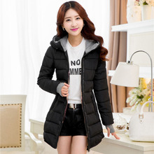 Женские Зимние Куртки черный синий и розовый длинные ватные пальто молодых девушка теплая куртка с о с капюшоном плюс размер xl-5xl 6xl 3563