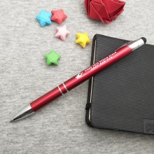 Unique gifts for events Summit nice quality stylus pen in 10 colors custom free with any logo text on body ship by DHL