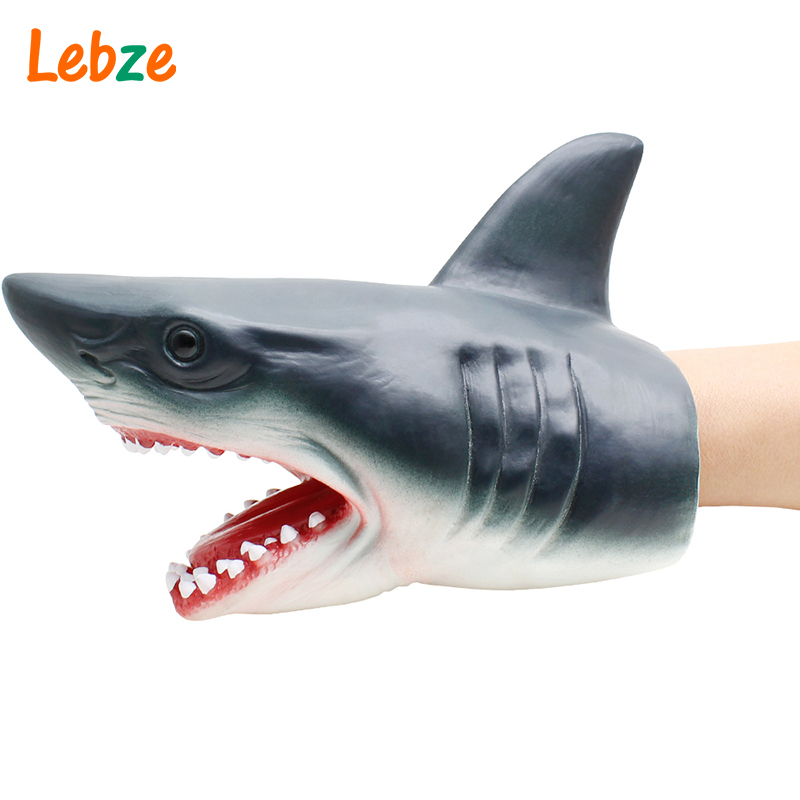 Shark Hand Puppet For Stories Non-toxic Soft Rubber Animal Head Hand Puppet Realistic Shark Model Figure Toy For Children GiftShark Hand Puppet For Stories Non-toxic Soft Rubber Animal Head Hand Puppet Realistic Shark Model Figure Toy For Children Gift
