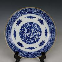 Antique QingDynasty porcelain plate,Blue and white dish 3,Hand painted crafts,best collection& adornment