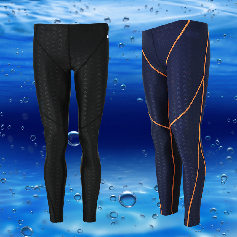 Quick-dry Shark Skin Swimwear Summer Swimming Boxer Jamer Men Sunga De Praia Sufring Diving Pants