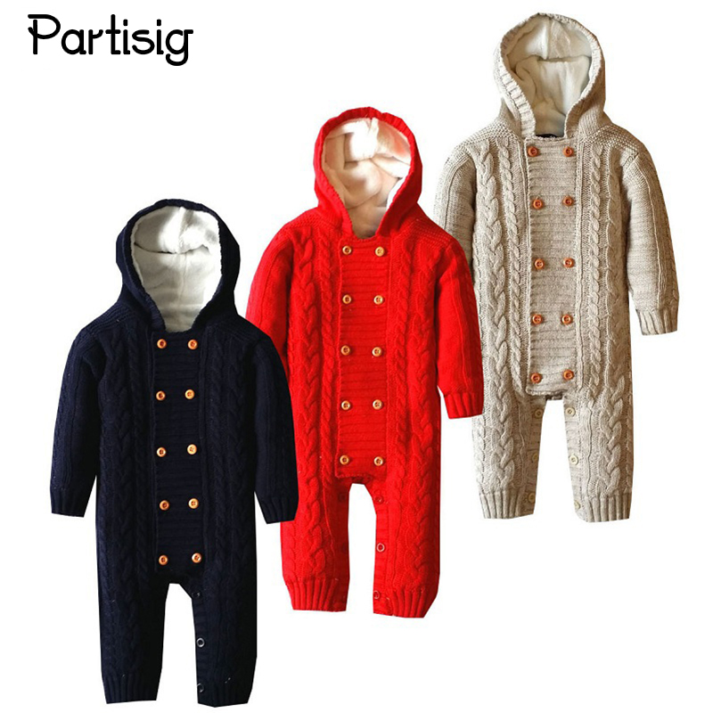 Baby Winter Romper Autumn Winter Thick Cotton Theard Romper For Baby Boy And Girl Coral Velvet Lining Hooded Baby Clothing