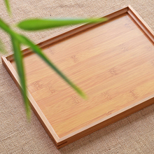 Bamboo tea tray Hot Sale Kung Fu Tea Set Natural Wood Rectangular Traditional Bamboo Puer Tea Tray Chahai Tea Table Hot sale