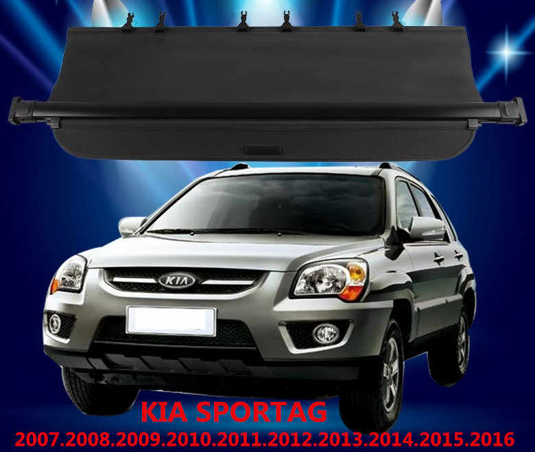 Kofferbak Security Shield Cargo Cover KIA SPORTAG 2007.08.09.10.2011.2012.2013.2014.2015.2016 Hoge Kwal Auto-accessoires