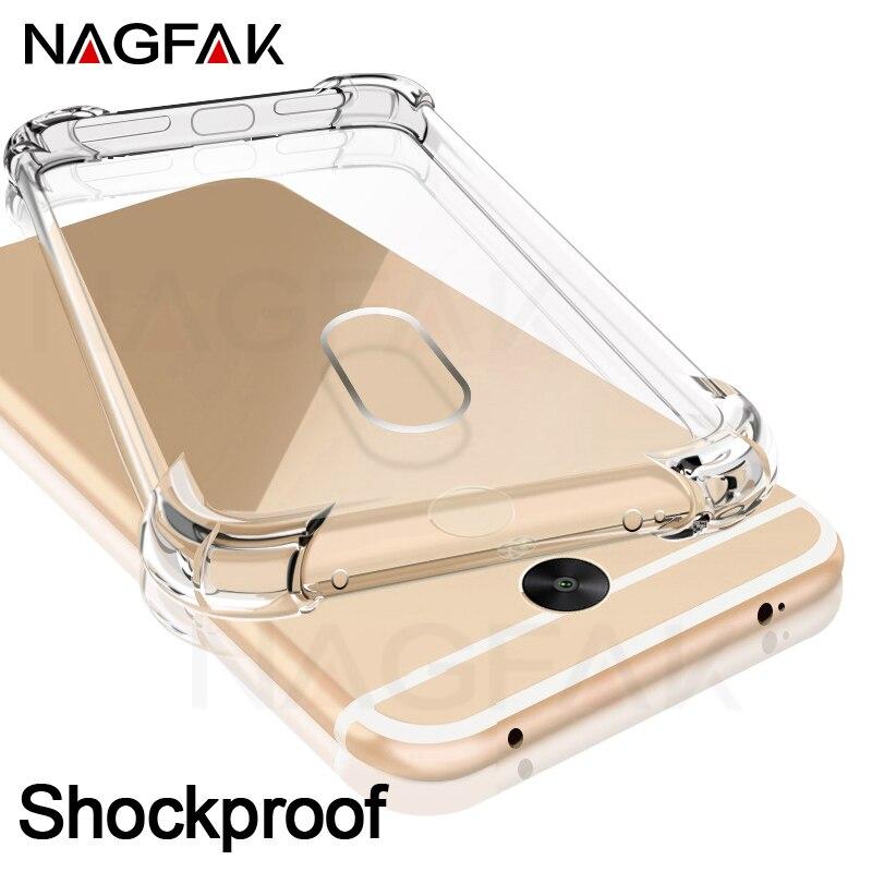 Étui Super résistant aux chocs NAGFAK pour Xiaomi Redmi Note 4 4X coque de téléphone en Silicone Transparent Note de couverture 4 étuis de Version mondiale Capa