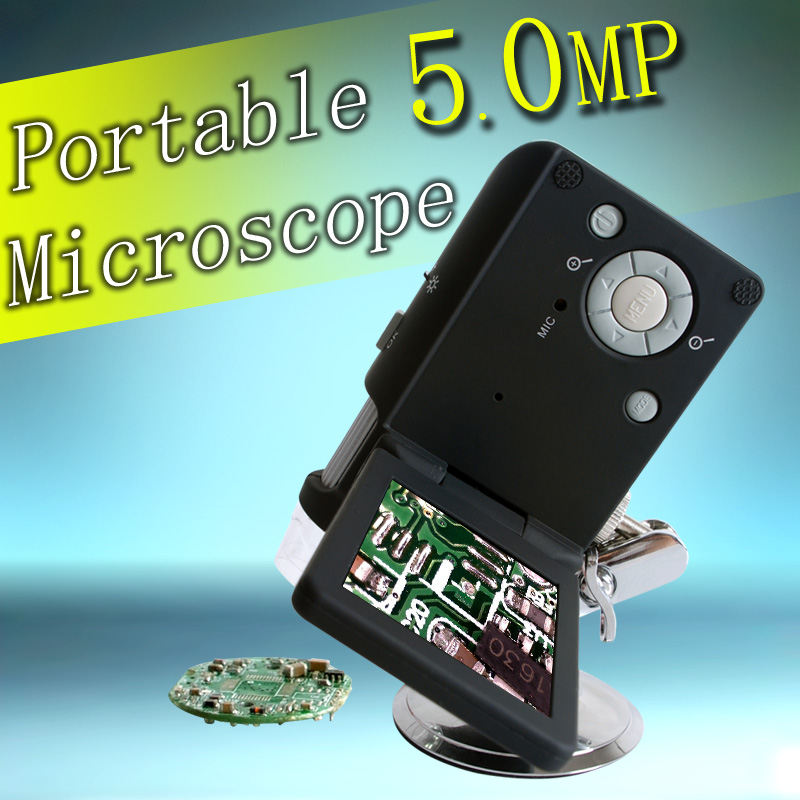 3 0 inch portable digital microscope 5 500X magniification factory supply
