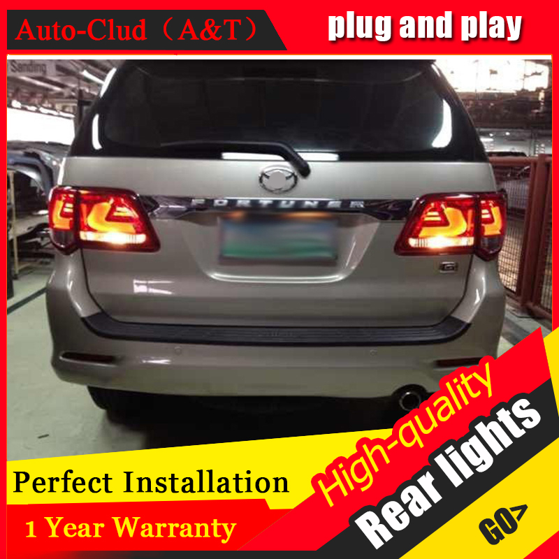 Auto Clud Car Styling for for Toyota FORTUNER Taillights 2012 FORTUNER LED Tail Lamp LED Rear Lamp DRL+Brake+Park+Signal led lig цена в Москве и Питере