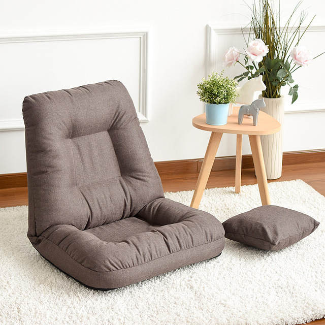 Home Adjule Folding Lazy Sofa Relax Chair Floor Cushion Couch Living Room Furniture For Watch Tv Gaming Midday Rest Nap