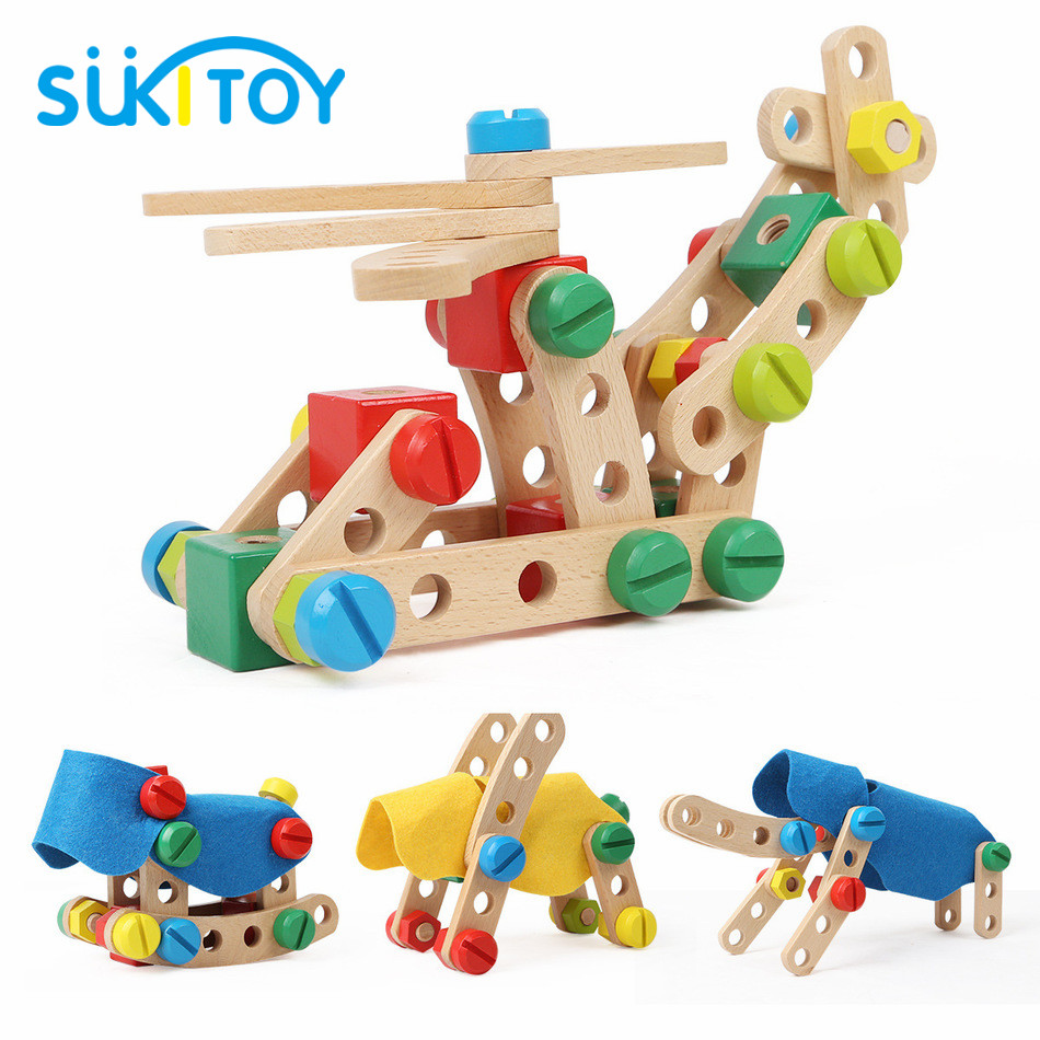 Fun Wooden assemblage screw toys Educational Toys  Set For Creativity For Children Girls brinquedos menina memory match stick chess kids children assemblage wooden toys memory match stick chess game educational toys gift