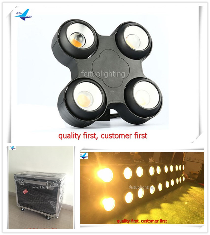 free shipping 12pcs/lot flycase 2018 COB LED Blinder Light 4x10w Warm White Color Audience Lights Stage Disco Party Wash Lumiere 4 pcs lot professional disco lighting matrix light 4eyes 100w cob led stage blinder light 4x100w cob cool white and warm white