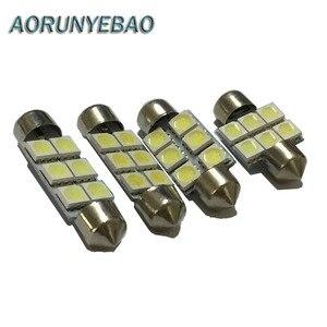 AORUNYEBAO 100 шт. гирлянда 31 мм 36 мм 39 мм 41 мм светодиодный светильник SV8.5 C5W C10W авто Интерьер Купол номерного знака Лампа для стайлинга автомобиля