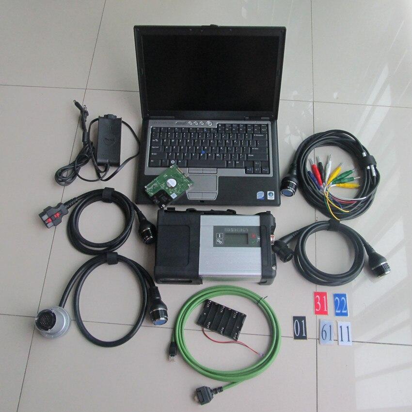 Mb диагностический инструмент звезды c5 с ноутбуком для dell d630 с hdd 320 ГБ 2018,12 новейшее программное обеспечение Полный комплект готов к использо...