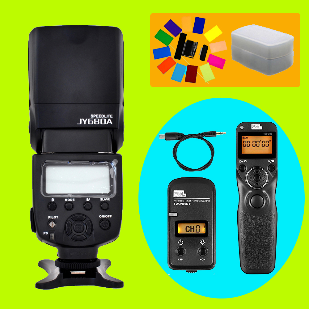 цена на Viltrox JY-680A Flash Speedlite & Pixel TW-283 S2 Timer Remote Control For Sony A58 A6000 A7 A7r A3000 RX100II