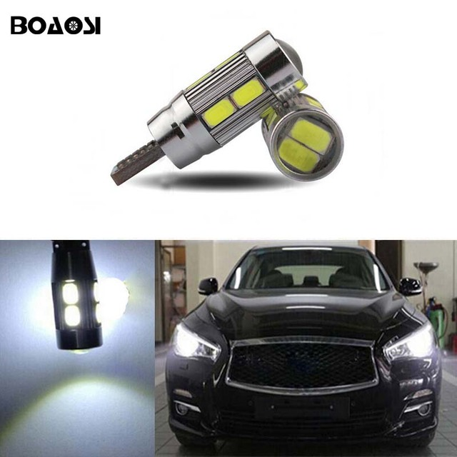 BOAOSI 2x T10 LED Side Parking Light Marker Lamps Bulb For Infiniti Q50 Q60  Q70 Q80 QX30 QX50 QX56 QX60 QX70 QX80 G25 G35 G37