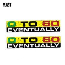 YJZT 2X 15CM * 3CM Personalityt 0 à 60 éventuellement autocollant de voiture avertissement autocollant PVC 12-1180