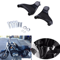 1 Pair Black Footrests Motorcycle Foot Pegs Foot Rests Bracket Mount For Harley Davidson Sportster XL883/1200 2004 2013