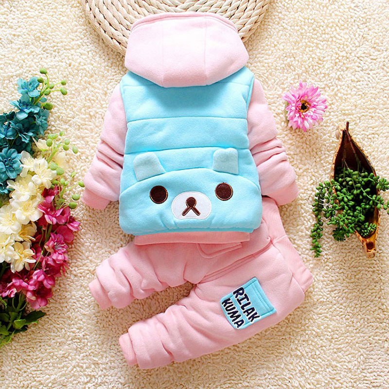 2017 Autumn Winter Clothing Set for Newborn Baby Boy Girl Cartoon Fashion Toddler Outerwear Tracksuit Children's Kids Clothes baby boy girl clothing set toddler clothes autumn cartoon tracksuits kids sport suit set coat pant 2pcs casual cardigan coats