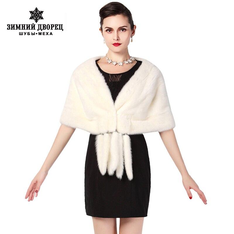 Nouvelle mode hiver dames fourrure châle, noir et blanc marron Tippet, châle de fourrure, châle de banquet haut de gamme, châle de vison