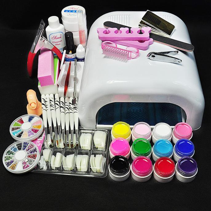 New Pro 36W UV GEL White Lamp & 12 Color UV Gel Nail Art Tools Sets Kits заслуженный коллектив россии академический симфонический оркестр филармонии л кремер