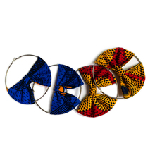 African Earrings For Women african jewelry Ankara Cotton Wax Print Girls Fashion New