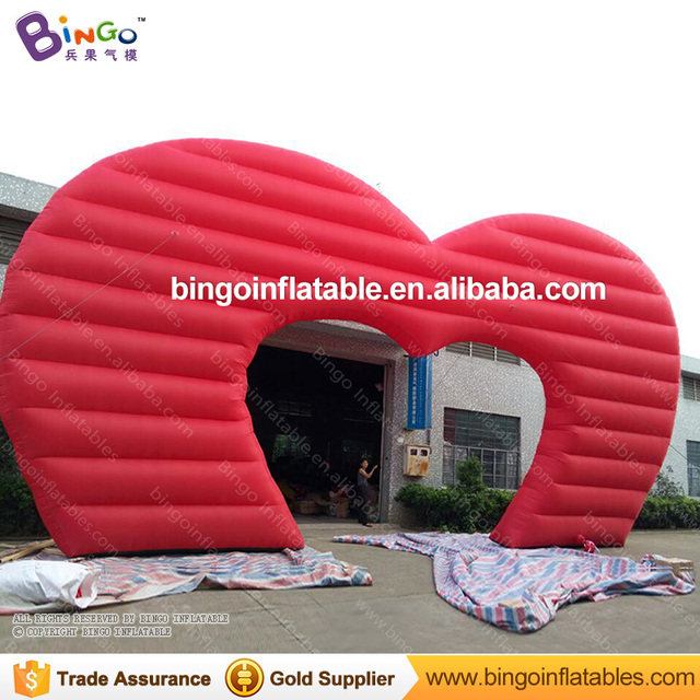 Lovely Valentineu0027s Day Blow Up Arch/giant Inflatable Heart Shaped Arch Decoration  For Valentineu0027s Day/