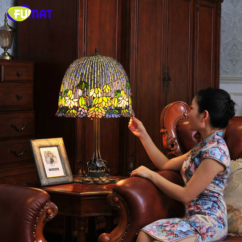 FUMAT Glas Kunst Tischlampe Qualität Europäischen Stil Seerose - Innenbeleuchtung - Foto 2
