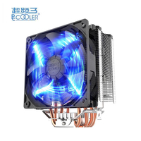 PCCOOLER X5 Copper Aluminum Mute Bionic Design CPU Cooler Fan 4 Lines Heatpipe 12CM 4 Pin