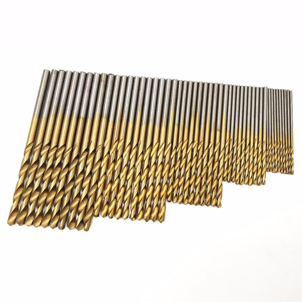 GOXAWEE Twist Drill Bit Set Saw Set 1/1.5/2/2.5/3mm HSS High Steel Titanium Coated Drill Woodworking Wood Tool For Dremel Tools