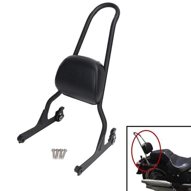 Motorcycle Rear Seat Sissy Bar Backrest Cushion Pad For Harley Fat Boy Fatboy Softail Motor Parts Sissybar Back Rest MBJ092