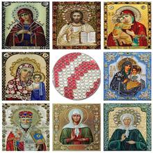 RUBOS Diamond Embroidery Icons Religion Diamond Mosaic Painting DIY 5D Matrona Craft Crystal Pattern Rhinestones Sale Decor Gift