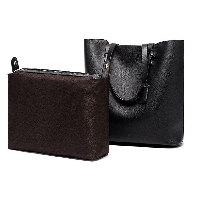 Women Tote Bag Leather Big Bag Female Simple Handbag Large Capacity Shoulder Bags Bucket Women Composite Bags Shopping Tote
