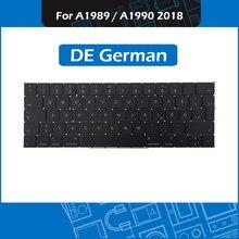 """מלא חדש A1989 A1990 דה גרמנית מקלדת עבור Macbook Pro רשתית 13 """"15"""" A1989 A1990 GER גרמניה מקלדת החלפת EMC3214 3215"""