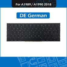 "Tam yeni A1989 A1990 DE alman klavye için Macbook Pro Retina 13 ""15"" A1989 A1990 GER almanya klavye yedek EMC3214 3215"