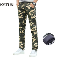 Winter Cargo Pants Mens Camo Warm Pants Thicken Heat Slim Straight Stretch Camouflage Men Joggers Tactical