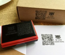 Qr code stamp Custom photosensitive seal stamp personalized logo Self inking stamp custom(China)