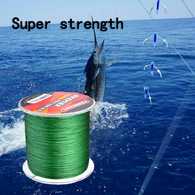 Best Offers Weaving Fishing Line 500M/PE Weaving Strong Horse Fish Line 4 Strands Fishing Rope Stronger 2018 New