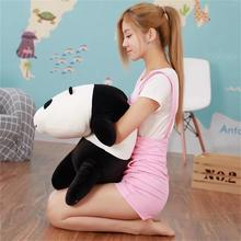 middle lovely plush lying panda toy cute soft panda pillow doll gift about 70cm 2569
