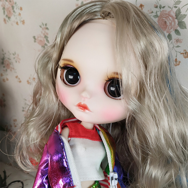Blyth Doll 1/6 Joint Body hand painted matte face white skin Movie character Clown girl suit DIY BJD SD toy gift AB hand set