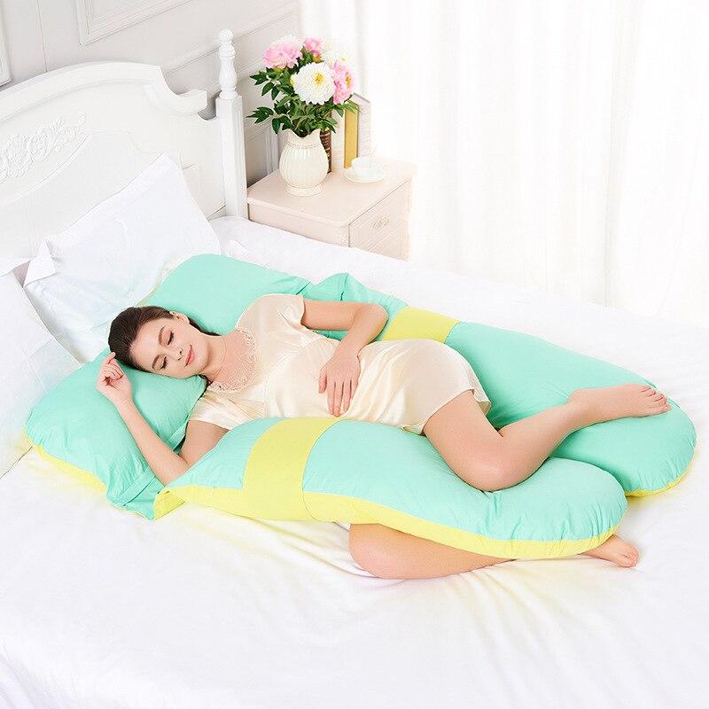 Breathable Pregnant Women Body Pillow Maternity Breastfeeding Pregnancy Pillow Bedding Big U Type Waist Pillow For Side Sleeper