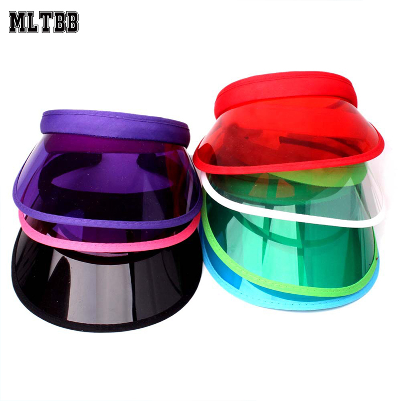MLTBB Climbing-Driving-Cap Visor Sun-Hat Empty-Top Transparent Plastic Unisex Men's Ladies