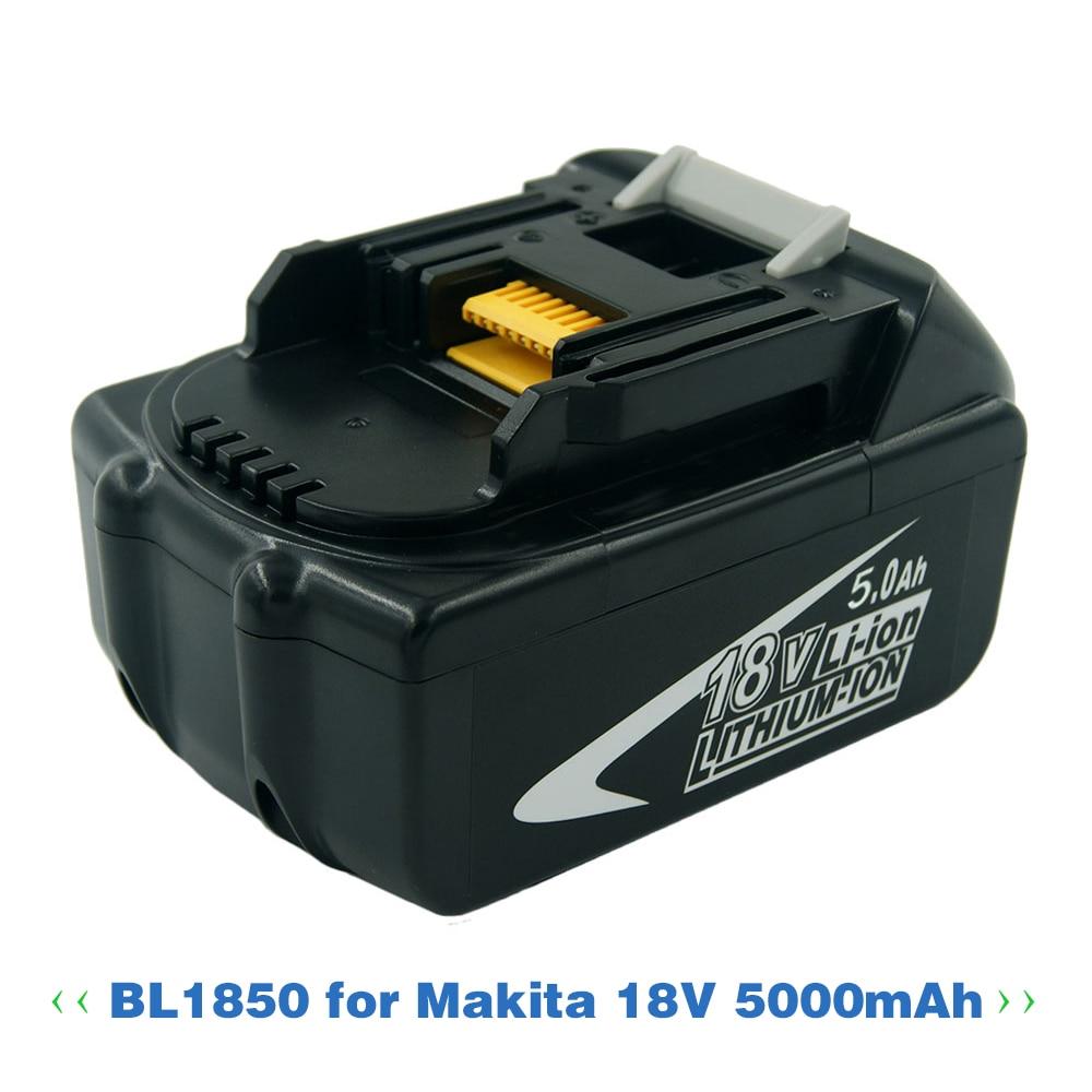 Neue Ersatz 5000 mah 18 v 5,0 Ah Lithium-werkzeug akku Für Makita 18 v BL1840 BL1850 LXT400 194230 -4 BL1815 BL1830