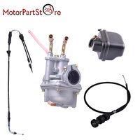 PW50 Carburetor Air Filter Cleanner Box Housing and Throttle Choke Cable for Yamaha PW50 PY50 Motorcycle D10